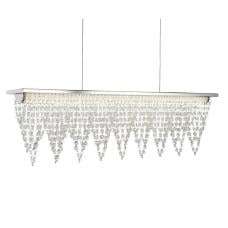 Beautiful Chrome And Crystal Led Ceiling Bar In Half Meter Lengt