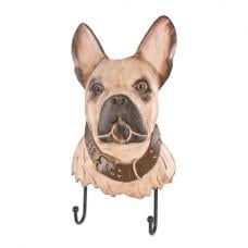 Bulldogge Wall Mounted Coat Rack In Metal With 2 Hooks