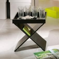 Moscow Side Table And Serving Tray In Black