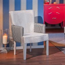 Coarsen Dining Chair In Upholstered Fabric With Armrests