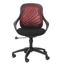 Croft Home And Office Chair In Black And Red With Padded Seat