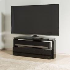 Squill Glass TV Stand In Black Finish