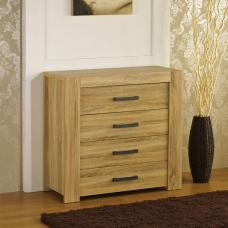 Liana Chest of Drawers In Sonoma Oak With 4 Drawers