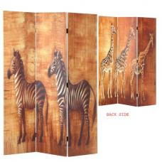 Africa Canvas Printed Room Divider In Foldable Design
