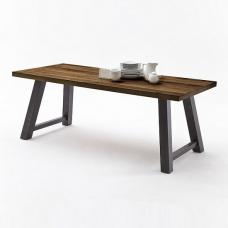 Alvaro Dining Table In Chocolate Oak And Antiklook Anthracite