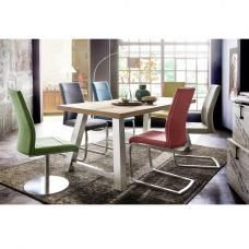 Alvaro Dining Table In Natural Oak With 8 Flores Chairs