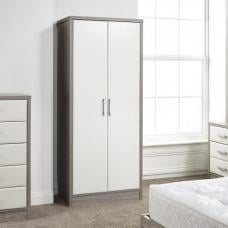 Triana Wardrobe In Alpine White And Oak With 2 Doors