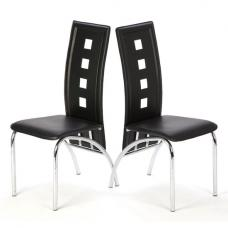 Bellini Black Dining Room Chairs in A Pair