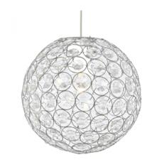Bellis II Chrome Fitting With Clear Acrylic Shade