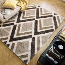 Velvet Bijoux Beige And Brown Rug