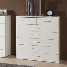 Florence Chest of Drawers In White With Diamante