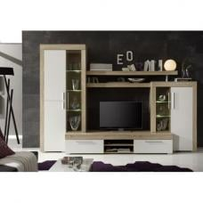 Boom Living Room Furniture Set In Oak With White
