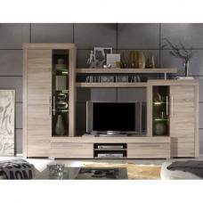 Boom Living Room Set In Oak With LED Lights