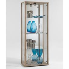 Classico Glass Display Cabinet With Light In Oaktree