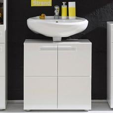 Bora Vanity Cabinet In White With High Gloss Fronts