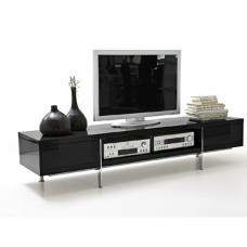 Brisbane LCD TV Stand in Black High Gloss Finish With 2 Drawer