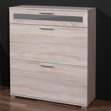 Maxima Shoe Cabinet In Canadian Oak With 3 Drawers