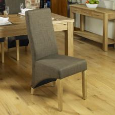 Carabia Dining Chair In Hazelnut With Oak Legs in A Pair