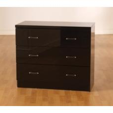 Stefan High Gloss Black 3 Drawer Chest