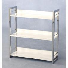 Stefan High Gloss White 3 Tier Bookcase And Display Stand