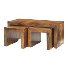 Cube Sheesham John Long Coffee Tables
