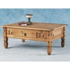 Corona Coffee Table with Drawer