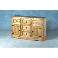 Corona Wooden Sideboard With 2 Doors And 5 Drawers