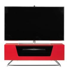 Romi LCD TV Stand In Red With Chrome Base