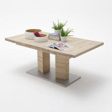 Cuneo Extendable Rectangular Dining Table Large In Bianco Oak