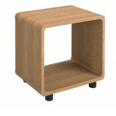 Baxton Curve Lamp Table Square In Oak