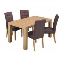 Baxton Dining Table Rectangular In Oak