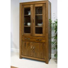 Sayan Walnut Large Glazed Bookcase