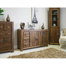 Sayan Walnut Six Drawer Sideboard