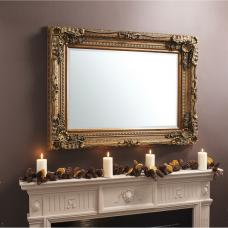 Louisa Baroque Style Wall Mirror Rectangular In Gold