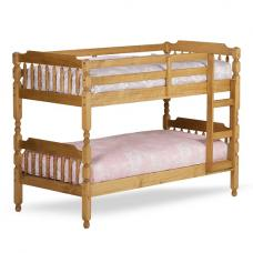 Colonial Wooden Single Bunk Bed In Waxed Pine