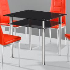 Callisto Black Glass Dining Table Only