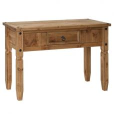 Corina Console Table Rectangular In Waxed Pine With 1 Drawer