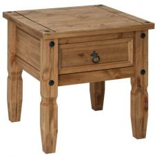 Corina Wooden Lamp Table With Drawer