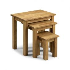 Coxmoor Wooden Nest of Tables Oak Finish