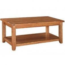 Hailey Solid Oak Finish Wooden Coffee Table
