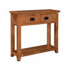 Hailey Solid Oak Finish 2 Drawer Console Table