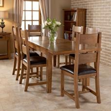 Hailey Solid Oak Extendable Dining Table And 6 Dining Chairs