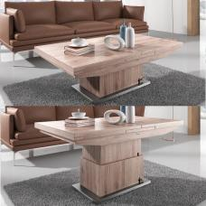 Elgin Extendable Coffee And Dining Table In Sonoma Oak