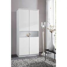 Diamant 2 Door Wardrobe With Glass In Centre