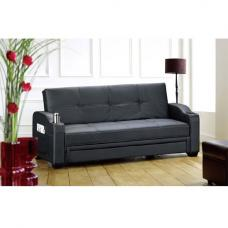 Diana Contemporary Black Sofa Bed With Storage