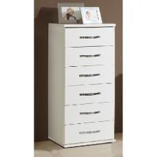 Candice Chest of Drawers In Alpine White With 6 Drawers