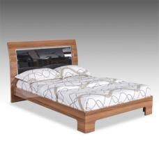 Emma Bed In Walnut With Black High Gloss