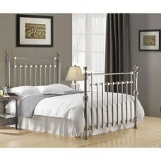 Edward Chrome Finish Metal King Size Bed