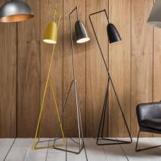Braize Adjustable Floor Lamp In Chrome Finish With Metal Frame