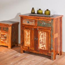 Farol Multicoloured Wooden Sideboard With 2 Door And 2 Drawer